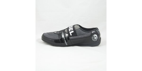 Pánske čierne tenisky s bielymi detailmi Diesel