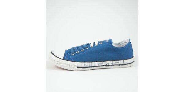 Pánske modré tenisky s bielym detailom Diesel