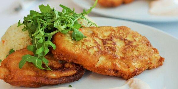 Obedové denné menu, rezeň s hranolčekmi alebo šaláty