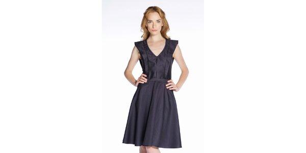 Dámske čierne hodvábne šaty Gene