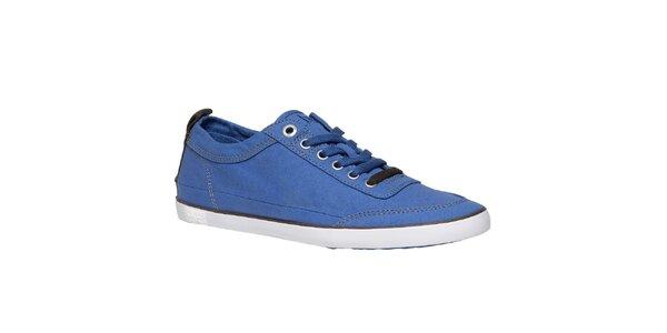 Pánske žiarivo modré textilné tenisky TBS