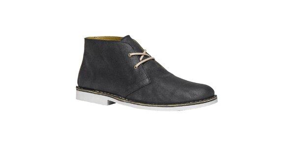 Pánske modro-čierne členkové topánky TBS