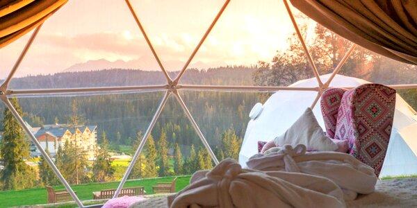 Netradičné ubytovanie v kupole Tatra Glamp s panoramatickým výhľadom
