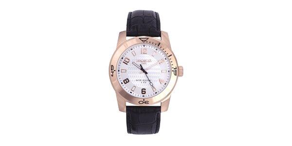 Pánske čierno-zlaté analógové hodinky Lancaster