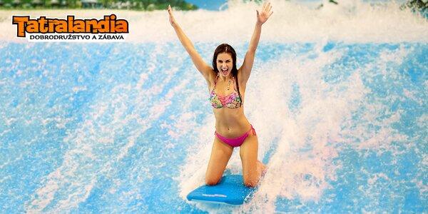 Surf Waves Tatralandia - samostatné vstupy alebo SEZÓNKA