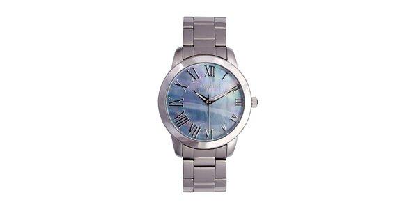 Dámske strieborné hodinky s metalickým ciferníkom Lancaster