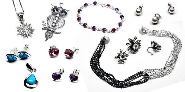 Strieborné šperky so Swarovski elements
