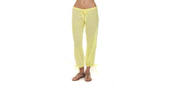 Dámske vanilkové nohavice s mašličkami Kool