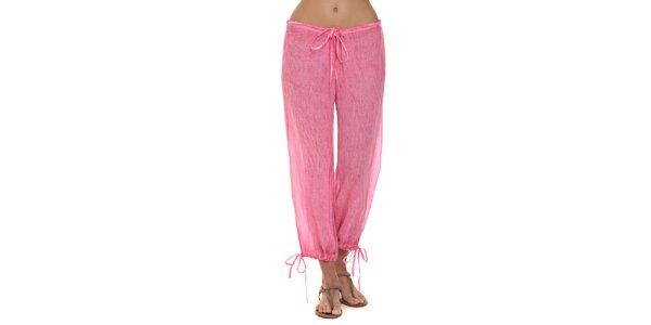 Dámske fuchsiové nohavice s mašličkami Kool