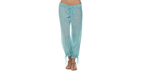 Dámske tyrkysové nohavice s mašličkami Kool