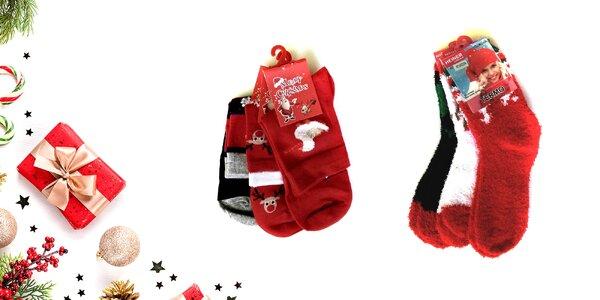 Dámske a detské ponožky s vianočným motívom