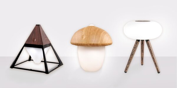 Dizajnové bezdrôtové LED Lampy