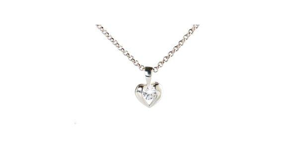 Dámsky strieborný náhrdelník s malým srdiečkom Destellos