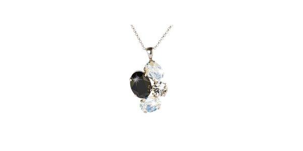 Dámsky strieborný náhrdelník so Swarovski kryštálmi Destellos