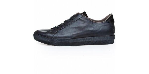 Pánske čierne kožené tenisky Just Cavalli