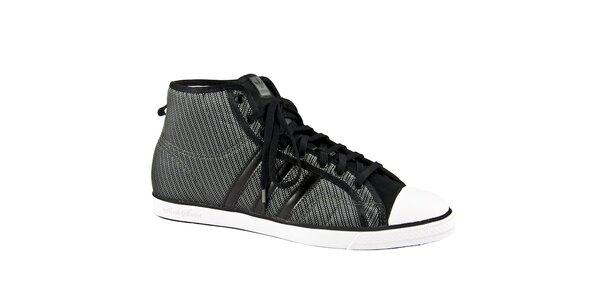 Dámske šedo-strieborné členkové tenisky Adidas Originals
