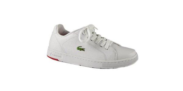 5a3d94c92 Bielo-červené tenisky Lacoste Carnaby