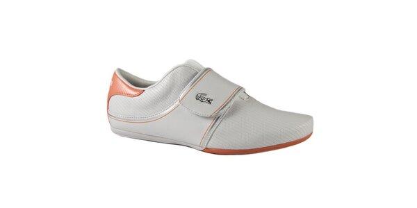 Dámske bielo-oranžové tenisky Lacoste Vina Strap