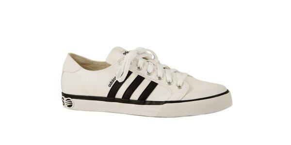 Bielo-čierne športové tenisky Adidas Clemente Stripe Lo