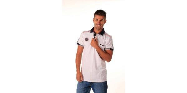 Pánske biele polo tričko s kapsičkou Celop