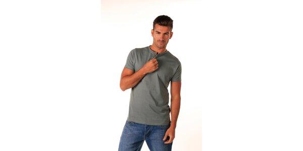 Pánske tmavo šedé bavlnené tričko Celop