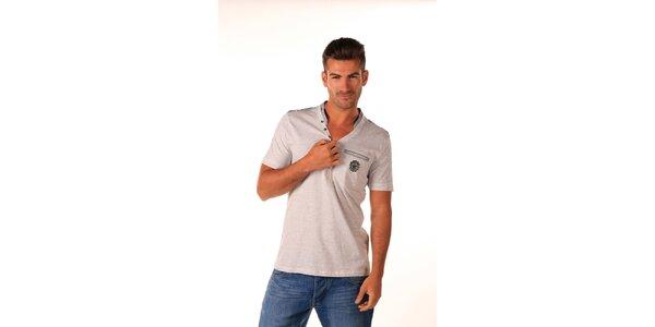 Pánske šedé bavlnené tričko Celop