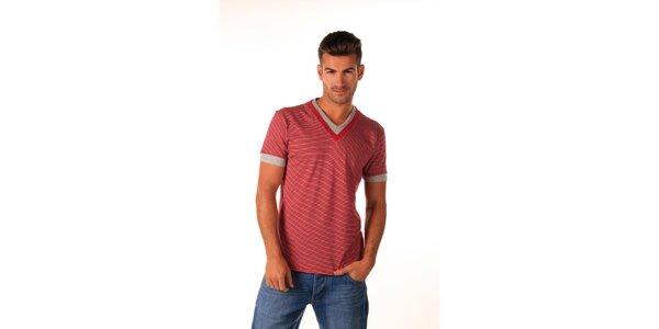 Pánske červené námornické tričko Celop