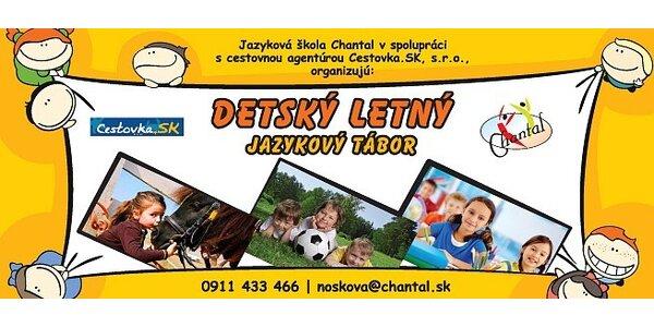 Detský jazykový tábor Chantalko