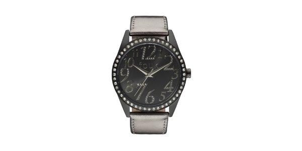 Dámske čierno-bronzové analógové hodinky French Connection