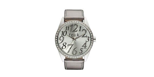Dámske strieborno-bronzové analógové hodinky French Connection