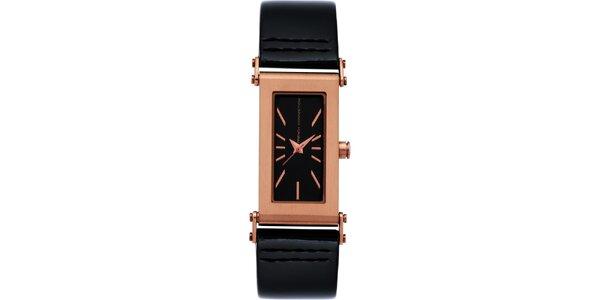 Dámske čierno-ružové analógové hodinky French Connection