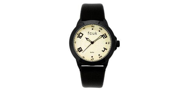 Dámske čierno-žlté analógové hodinky French Connection