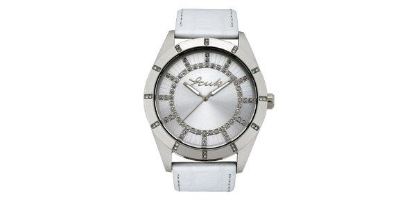 Dámske strieborno-biele analógové hodinky French Connection