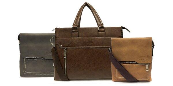 Elegantné pánske tašky Wild z eko kože