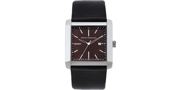 Pánske hnedé analogové hodinky French Connection