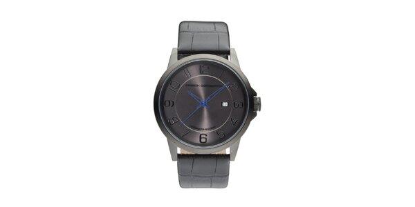 Pánske antracitové analogové hodinky French Connection