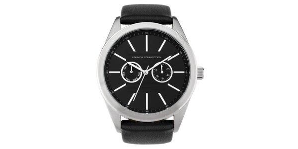 Pánske čierne analogové hodinky French Connection
