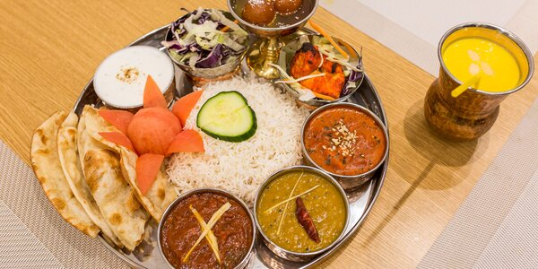 Veľké indické degustačné menu pre 2 osoby