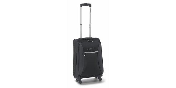 Čierno-šedý malý kufor na koliečkach Esprit