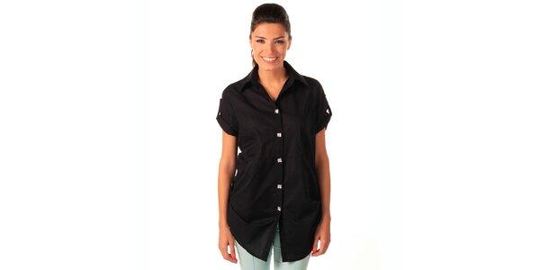 Dámska čierna voľná košeľa Caniche