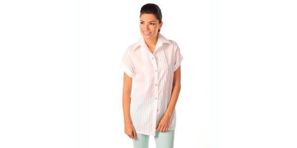 Dámska biela voľná košeľa Caniche