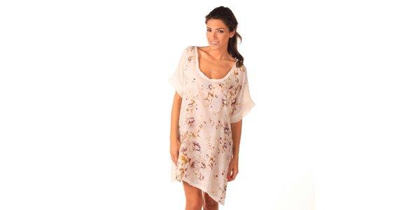 Dámske biele vzdušné šaty Caniche