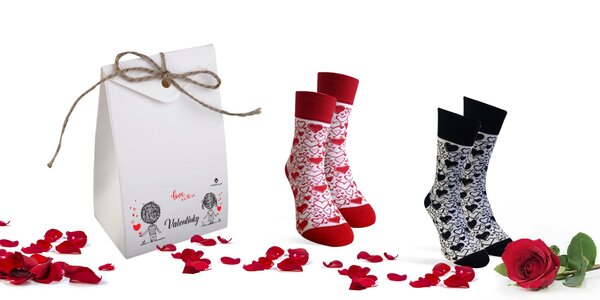 Valentínske ponožky Karpathia v darčekovom balení