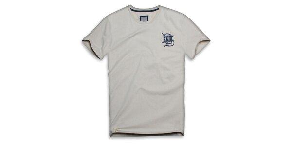 Pánske béžové bavlnené tričko s ornamentom Paul Stragass