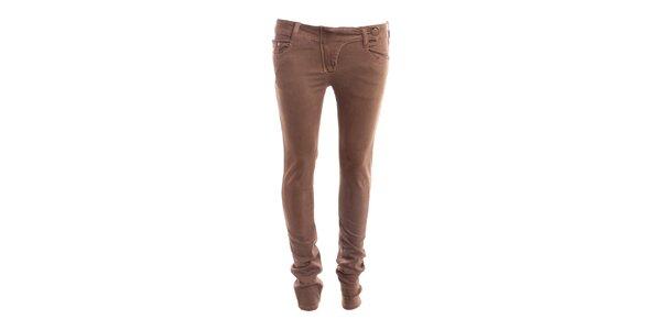 Dámské béžové kalhoty s nízkým pasem 2two