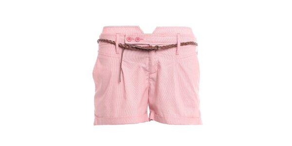Dámske ružové šortky 2two