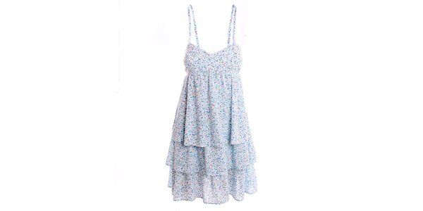 Dámske biele šaty s jemným vzorom 2two