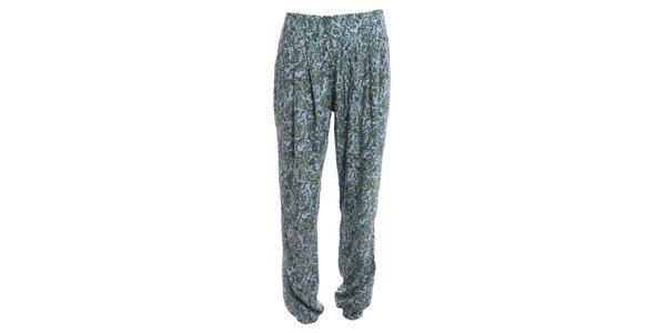 Dámske ľahké nohavice s modrým vzorom 2two