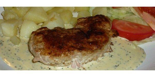Steak z bravčovej panenky s bylinkovou omáčkou