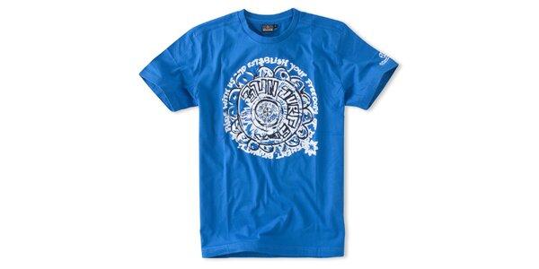 Pánske žiarivo modré tričko Brunotti s potlačou
